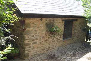 lime and earth mortar used to match existing pointing on stone barn