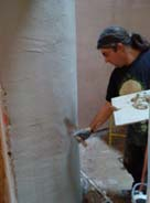 applying hemp plaster