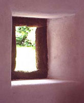lime plastered window reveals