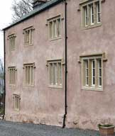 lime rendered dashed and limewashed house in Cumbria undertaken by Lattimer Construction with Jack in the Green