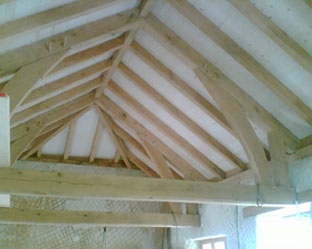 Oak Framed Roof by Jake Jackson and Jack in the Green Wood
